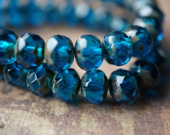 Deep Abyss, Rondelles, Czech Beads, N1746
