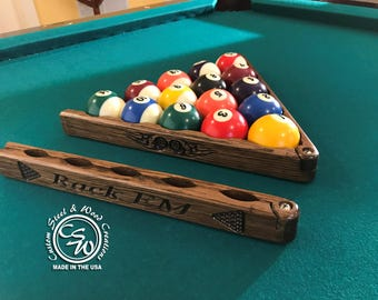 Pool V-Rack Fold Down Pool Rack, Pool Rack, Pool Ball Rack, Pool Rack Folding Custom, Pool Rack Personalized, Pool V-Rack Personalized