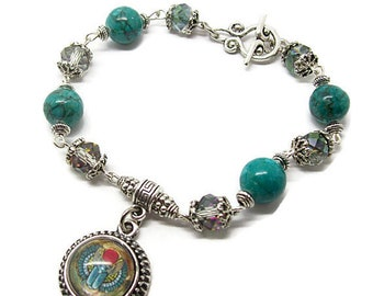 Scarab Bracelet - Egyptian Scarab Bracelet - Gemstone Bracelet - Egyptian Bracelet - Scarab