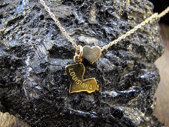 State Love - You Choose - Gold Filled Chain and Gold Plated Charm Necklace - 18 Inches