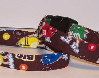 Colorful M and M's Candies Big Fun Dog Collar Candy Chocolate M and M
