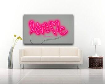Love Me Neon Art