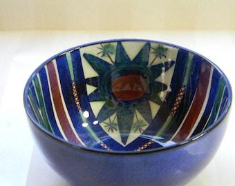 Royal Copenhagen FAJANCE Small Blue Bowl, Signed MJ, Marianne Johnson, 187/2196