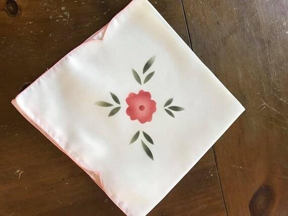 Set of 12 Vintage  17x17 Pink Floral Napkins