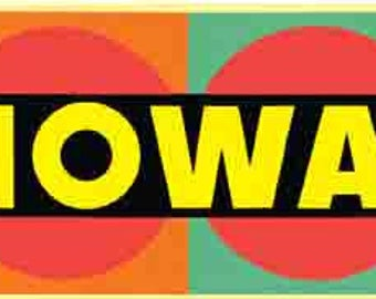 Vintage Style Des Moines IA  Iowa   colorful  Travel Decal sticker