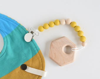 CLASSIC Soother Clip // Pacifier Clip // Silicone soother clip // Silicone Beads // Teether clip // Beaded Clip // Dummy Clip // Teething