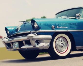 Fine Art Photograph, Vintage Car Photograph, Turquoise Montclair