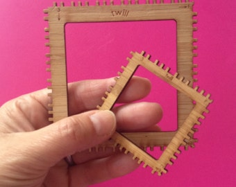 2 square loom frames (like pin looms but without nails :)