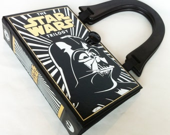 Star Wars Book Purse - Darth Vader Book Purse - Storm Trooper Book Cover Bag - Darth Vader Costume - Geeky Girl Gift - Cosplay Costume