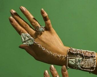 Silver Sacred Geometry Goddess Bracelet