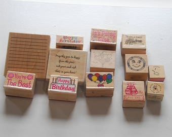 Stamp0191 Party Time with 13 Rubber Stamps