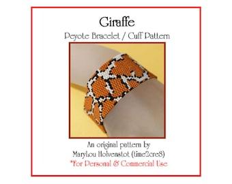 Peyote Bracelet Pattern ... GIRAFFE ... Spots . Wild Animal . Africa . Animal Print . Nature . Style . Make Your Own . Beadweaving . 3 for 2