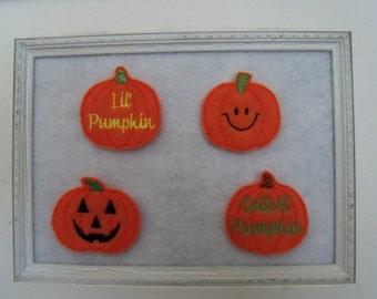 Pumpkin Feltie  Fall Feltie 4 to Choose From Always precut