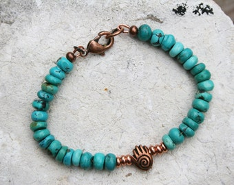 Healing Hand Bracelet, Turquoise Bracelet, Boho Bracelet, Healing Hand Jewelry, Healing Jewelry, Healing Bracelet, Turquoise Jewelry