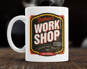 Father Gift, Father Mug, Christmas, Birthday Gift For Father! Old School Father Workshop, Present, Father Birthday Gift, Gift For Father!