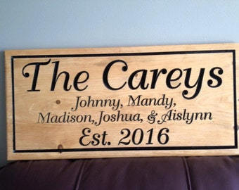 Personalized/Custom Sign-Oval sign-Engraved wooden sign-Wedding/Anniversary sign-unique sign