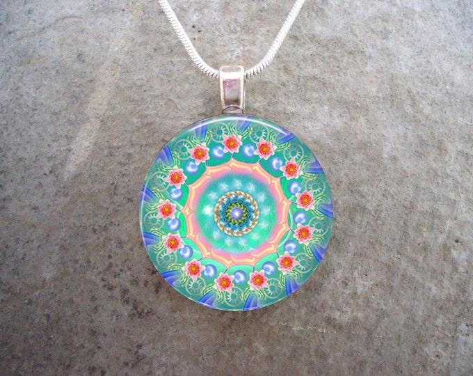 Mandala Jewelry - Glass Pendant Necklace - Mandala 7