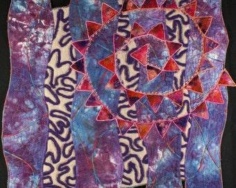 Handmade Art Quilt - ZEN SPIRAL