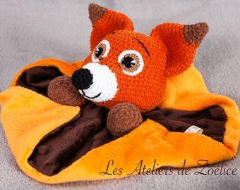 Copper Fox blanket flat baby birth gift