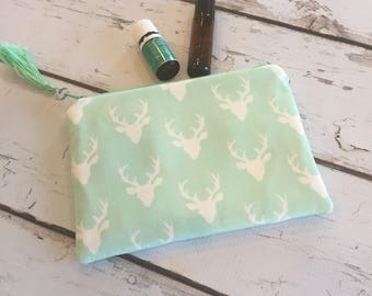 Clearance Ready to ship New Essential Oil Bag, Roller bottle or 5ml bag Mint Stag (holds 6-8)