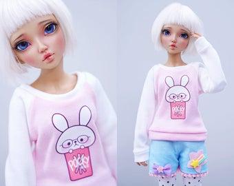 Slim MSD Minifee or SD BJD Sweater - Pocky Bunny