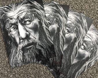 Gandalf Drawing Print
