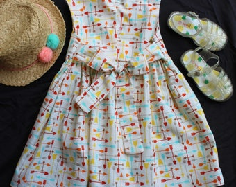 Baby Girl Dress - Arrow Pattern