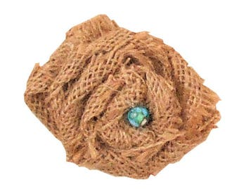 Burlap Flower with Turqousie Accent ADD ON