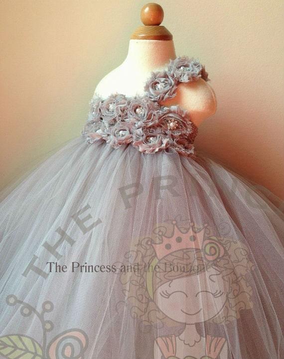 Flower girl dress gray flower girl dress silver flower girl like this item mightylinksfo