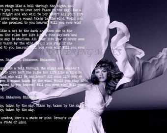 Stevie Nicks 'Rhiannon' lyrics art