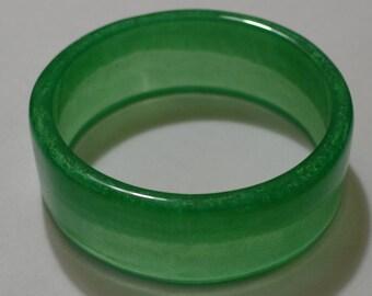Handmade Two Tone Green Resin Bangle