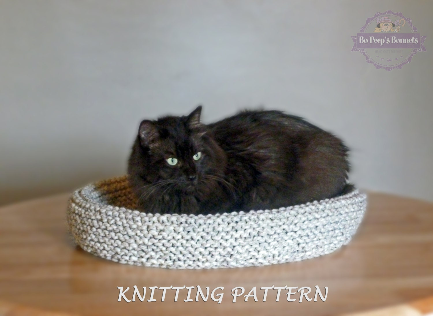 Cat bed knitting pattern knitted cat bed tutorial diy cat bed this is a digital file jeuxipadfo Gallery