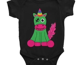 Undead Zombie Unicorn Onesie Infant Bodysuit