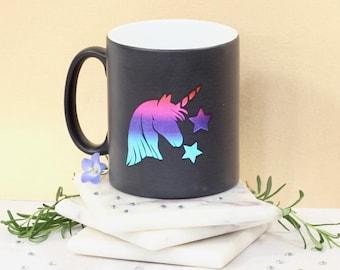 Personalised Metallic Rainbow Unicorn Mug