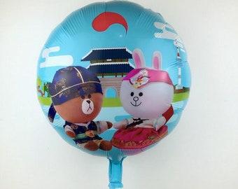 New Round Buns Human Aluminum Balloons Children Toys Party Balloon