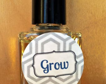 Grow, Natural Stimulating Oils for Nail Growth, Brittle, Peeling, Handmade, Essential Oils, Gift, Holiday, Christmas, Stocking Stuffer