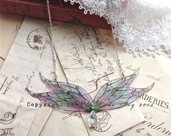 "Enchanting""""Mystical faerie wing"" necklace"