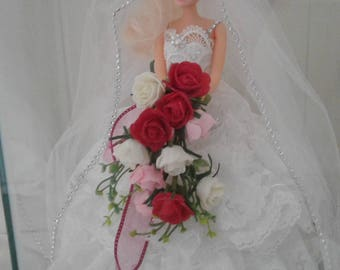 Hand made Barbie wedding doll
