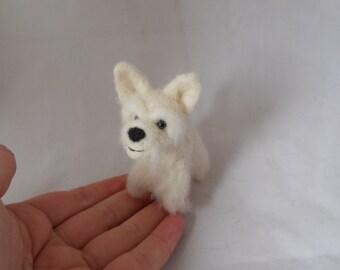 Custom West Highland White terrier - Westie - needle felted origonal puppy soft sculpture. - small size