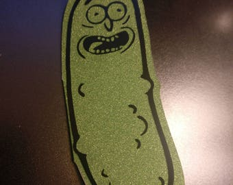 Pickle Rick Pickle Shaped Card