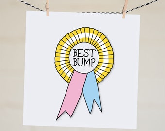 Best Bump Award Card | Pregnancy Annoucement Card | Expecting Mother Card | Congratulations Card | New Mum Card | Funny Baby Shower Card