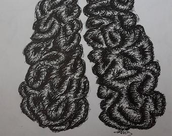 Drawn to Order Anatomical Brain Drawing