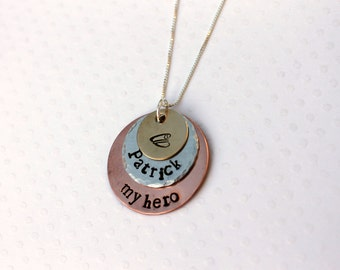 Police Necklace Police Wife Necklace Police Girlfriend My Hero Necklace Love My Police Officer