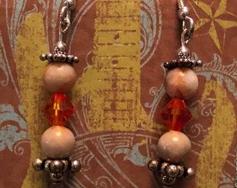 Jasper Swarovski earrings