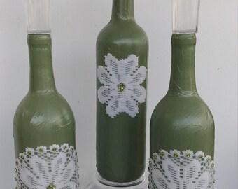 Bottle solar lights - green 1