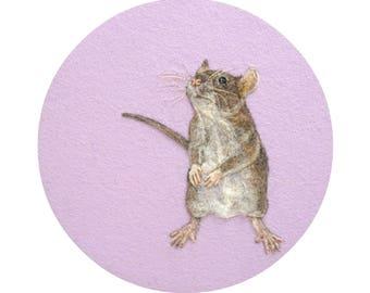 Curious Rat Portrait - Giclee Print 8 x 10 - HAM Portrait Collection