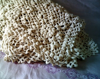 Victorian Style Popcorn Lace Afghan