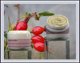 Rosehip Night Cream with Bentonite Clay for Oily Skin