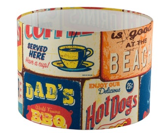 lampshade vintage style American diner / fifties