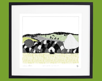 Yorkshire Sculpture Park - From the Deer Shelter Limited Edition Screen Print